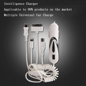 Car Charger USB Multiple Universal USB 2A 4 in 1 Retractable Multi Charger Car Charger pictures & photos