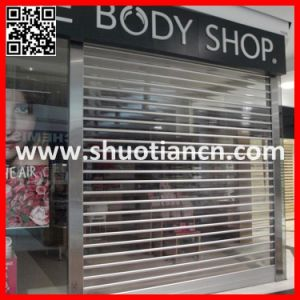 Duty Free Polycarbonate Rolling Commercial Door (ST-003) pictures & photos