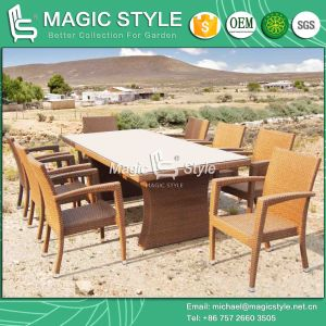 Classical Dining Set Wicker Dining Chair Stackable Chair Rattan Dining Set (Magic Style) pictures & photos