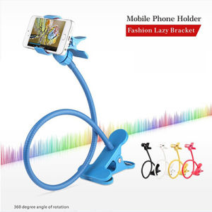Long Arm Mobile Phone Holder Stand 360 Flexible Lazy People Bed Desktop Tablet Mount for iPhone 5s 6 Samsung Galaxy S5 Xiaomi