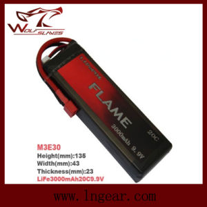 Flame LiFePO4 3000mAh 9.9V15c Plus Battery pictures & photos