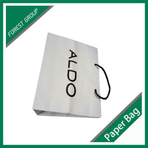 White Color Paper Bag with Cotton Handle pictures & photos