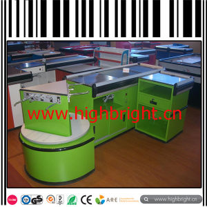 Cashier Table with Lane Display Shelf for Customer Waiting Area pictures & photos