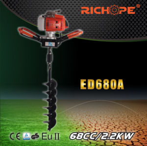 68cc High Quality Portable Earth Drill with Double Handle (ED680A) pictures & photos
