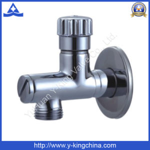 Polished Brass Sanitary Angle Valve for Water (YD-5034) pictures & photos