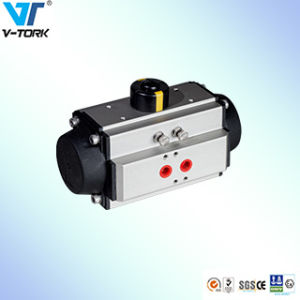 Stainless Steel Ball Valve Pneumatic Control Valve Actuator with Q611f-16p pictures & photos