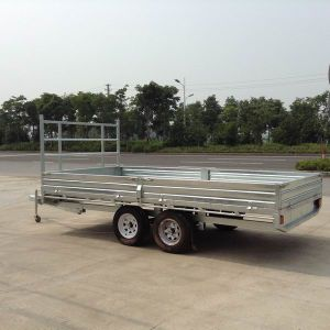 12X7 Quality Trustworthy Galvanized Flat Top Trailer pictures & photos