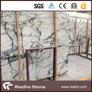 Polished Blue Sky White Marble Slab From China