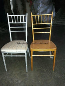High Quality Cheap Gold Chiavari Chair with Fixed Cushion pictures & photos