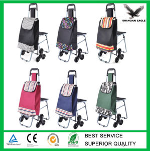 Foldable Trolley Shopping Bag with Chair pictures & photos
