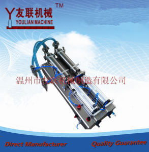 Semi-Automatic Double Heads Water/Juice/oil and others Liquids Filling Machine (G2WYD) 100-1000ml pictures & photos