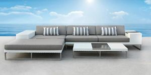 3-Piece Patio Sectional Rattan-Wicker Sofa