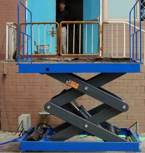 Popular Cargos Stationary Scissor Lift Platform pictures & photos
