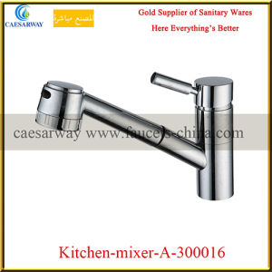 Single Lever Pull out Spray Kitchen Sink Faucet pictures & photos