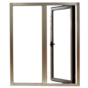 Aluminium Profile Casement Window with Fix Pane K03055 pictures & photos