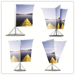 Outdoor Flag Banner with Watel-Filled Base (DW-G-F) pictures & photos