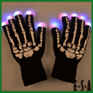 2015 New Arrival LED Flashing Magic Gloves, Knitted Fashion Direction LED Glove Wholesale, High Quality Knitted LED Gloves G15A101 pictures & photos