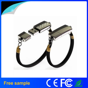 Custom Logo Printing Metal Wristband Pendrive Bracelet USB Flash Drive