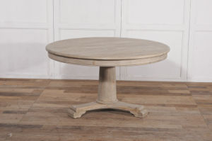 Simplicity and Thick Round Table Antique Furniture-MD03-78 pictures & photos