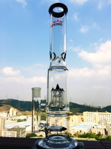 Hb-K6 Dual Rocket Percolate Glass Water Pipe pictures & photos