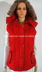 Promotional Winter Warm Cotton Overcoat Padded Waistcoat for Women/Lady pictures & photos