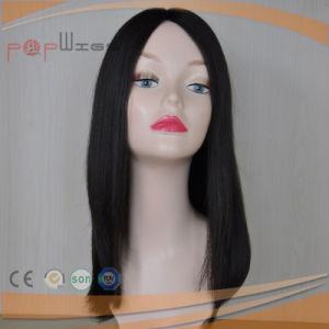 Dark Color Full Hand Tied Human Hair Skin Top Work Elegant Wig pictures & photos