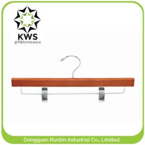 Kws-Wooden Coat Hanger and Pants Hanger Wooden Men′s Pants Hanger for Display (Rb-Wp638)