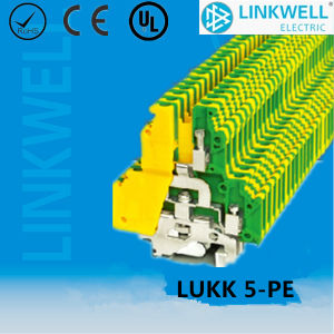 Electric Distribution PE Ground Terminal Block with Copper Contact (LUKK5-PE) pictures & photos