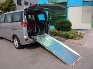 Aluminium Wheelchair Folded Ramp for Rear Door of Van pictures & photos