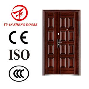 Main Wooden Color Metal Security Door pictures & photos