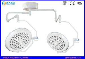 Battery LED Ceiling Double Head Shadowless Surgical Hospital Operating Light pictures & photos