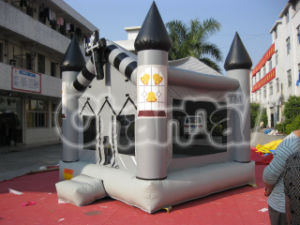 Black Gray Inflatable Halloween Bouncer Castle pictures & photos