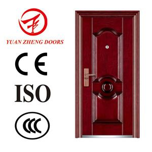 Indian Main Door Design Steel Security Door with Door Frame pictures & photos