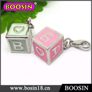 Fashion Jewelry Pink Toy Block Charm for Bracelet #16402 pictures & photos