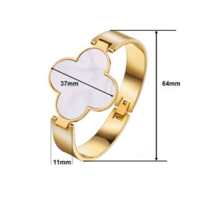 Fashion Jewelry Four-Leaf Clover Bracelet Stainless Steel Bracelet pictures & photos