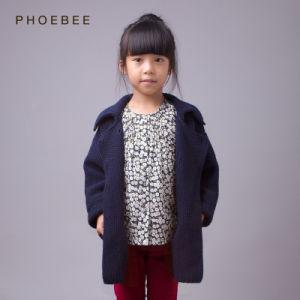 Dark Blue Children Clothing Girls Winter Coats pictures & photos