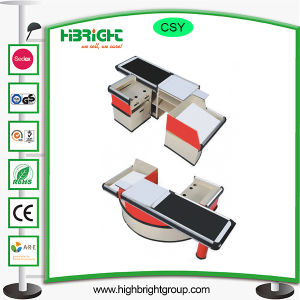 Supermarket Cashier Counter Table Desk with Belt pictures & photos