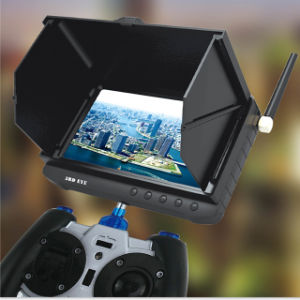 Outdoor Powered Wireless Receiver Fpv DVR Monitor with 5inch HD LCD No Blue Screen Mini Drone Camera pictures & photos