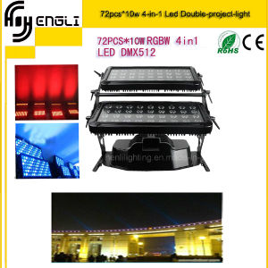 72*10W 4in1 LED Double Project Light of Stage Lighting (HL-023) pictures & photos