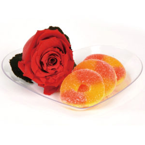 Plastic Plate Disposable Tray Heart Shaped Plate pictures & photos