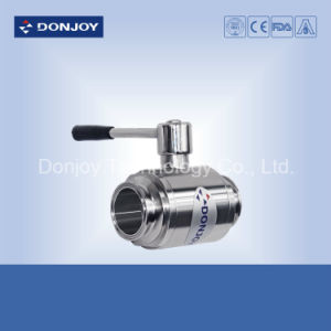 Ss 304/316L Manual Clamped Direct Way Ball Valve with Pull Handle pictures & photos