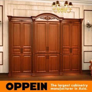 Oppein Custom Euro Style High Quality Alder Solid Wood Wardrobe (YG21310) pictures & photos