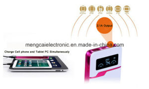 8000mA Dual USB LED Screen FCC Ce RoHS Certified Rechargeable mobile Phone Power Bank for iPhone pictures & photos