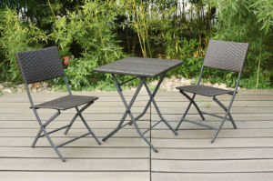 Hotel Rattan Wicker Patio Outdoor Leisure Furniture Table and Chair pictures & photos