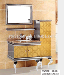 2016 Newly Stainless Steel Bathroom Vanity Top Cabinet pictures & photos