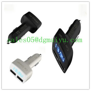 Newest Cigarette Lighter Voltmeter 2 Port USB Car Charger pictures & photos