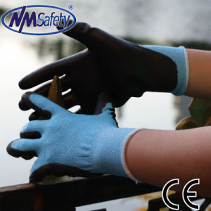 Nmsafety 18g Thin PU Coated Cut Resistant Safety Work Glove pictures & photos