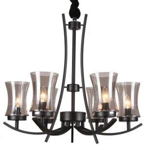 Black Iron Chandelier Lighting Interior Lamp (SL2246-6)