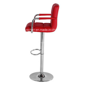 PU Leather Hydraulic Lift Adjustable Counter Bar Stool Zs-6021 pictures & photos