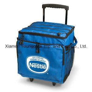 Promotional Custom Printed Collapsible 48-Can Insulated Wheel Cooler Bag pictures & photos